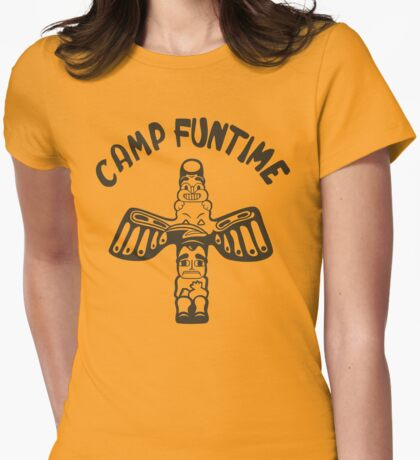 Blondie Camp Funtime Womens Fitted T-Shirt