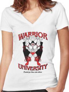 Warrior University Women's Fitted V-Neck T-Shirt