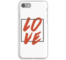 Love Brush Hand Lettering iPhone Case/Skin