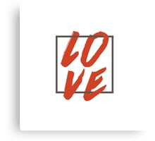 Love Brush Hand Lettering Canvas Print