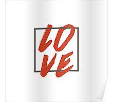 Love Brush Hand Lettering Poster