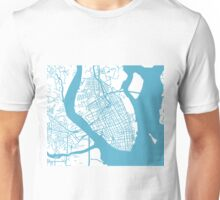 Charleston, SC Map - Baby Blue Inverted Unisex T-Shirt
