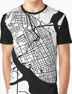 Charleston, SC Map - Black Inverted Graphic T-Shirt