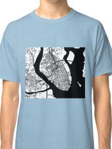 Charleston, SC Map - Black Inverted Classic T-Shirt