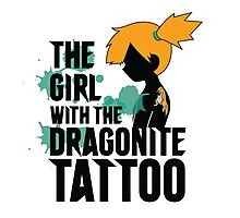 The girl of the Dragonite tattoo Photographic Print