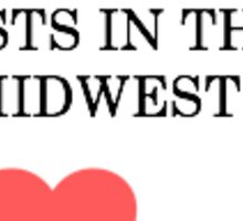 My heart rests in the Midwest (Ohio) Sticker