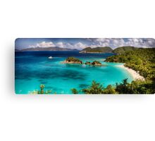 Beach with Turquoise Waters Canvas Print
