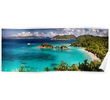 Beach with Turquoise Waters Poster