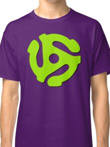 45 rpm record adaptor, neon green, purple Classic T-Shirt