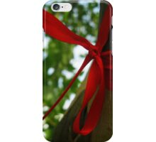 Wishing Tree - Red Bow iPhone Case/Skin