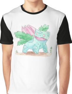 Ivysaur Watercolour Graphic T-Shirt
