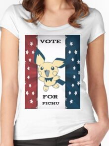 Vote For Pichu Women's Fitted Scoop T-Shirt