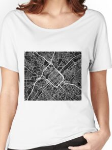 Charlotte Map - Black Women's Relaxed Fit T-Shirt