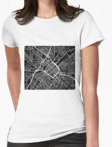 Charlotte Map - Black Womens Fitted T-Shirt