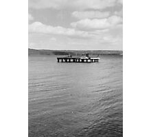area of water between or next to a human-made structure Photographic Print