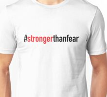 #strongerthanfear: Official White Out Belfast Design 1 Unisex T-Shirt