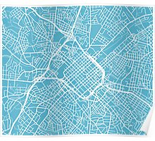 Charlotte Map - Baby Blue Poster