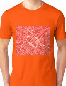 Charlotte Map - Red Unisex T-Shirt