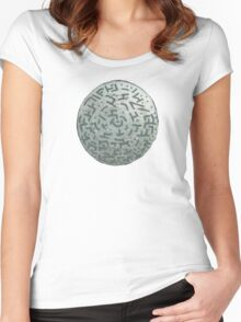 Winter Night - Mixed Media Painting Women's Fitted Scoop T-Shirt