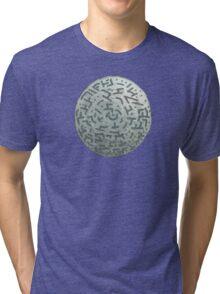 Winter Night - Mixed Media Painting Tri-blend T-Shirt