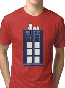 Snoopy / Dr. Who Tri-blend T-Shirt