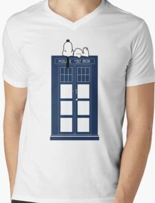 Snoopy / Dr. Who Mens V-Neck T-Shirt