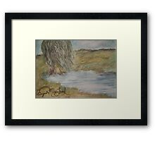 Willow On Pond Framed Print