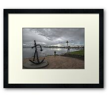 Anchorage in Geelong Framed Print