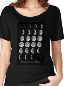 Astronomy Chart, Phases of the Moon, Lunar chart Women's Relaxed Fit T-Shirt
