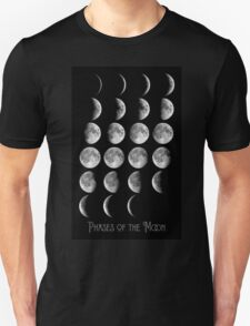 Astronomy Chart, Phases of the Moon, Lunar chart T-Shirt