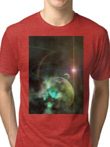 3d Rendered Space Scene Tri-blend T-Shirt