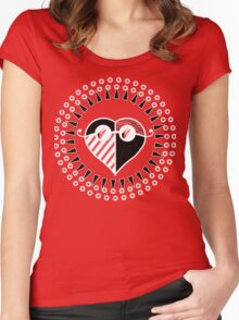 Love is Radically Blind (Black/Red Ver.) Women's Fitted Scoop T-Shirt