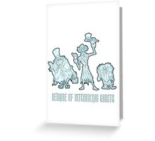 Haunted Mansion Beware of Hitchhiking Ghosts Greeting Card
