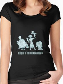 Haunted Mansion Beware of Hitchhiking Ghosts Women's Fitted Scoop T-Shirt