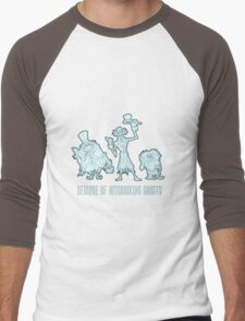 Haunted Mansion Beware of Hitchhiking Ghosts Men's Baseball ¾ T-Shirt