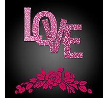 Valentine's day in black Photographic Print