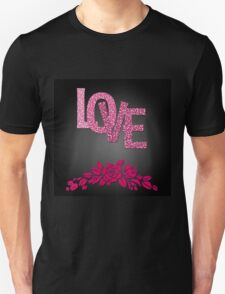 Valentine's day in black Unisex T-Shirt