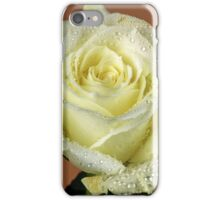 A wet White rose iPhone Case/Skin
