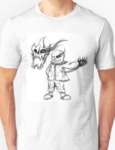 Hand-Drawn Undertale sans and Gaster Blaster T-Shirt