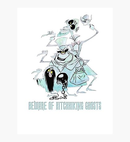 Awesome Art Hitchhiking Hosts from the Haunted Mansion Photographic Print