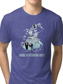 Awesome Art Hitchhiking Hosts from the Haunted Mansion Tri-blend T-Shirt