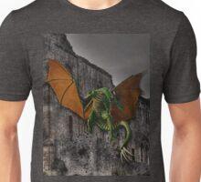 Dragon & Castle Fantasy Artwork Unisex T-Shirt
