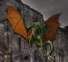 Dragon & Castle Fantasy Artwork by NaturePrints