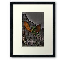 Dragon & Castle Fantasy Artwork Framed Print