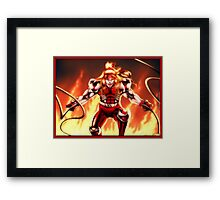 Omega Red Framed Print