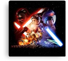 Lego Star Wars The Force Awakens Movie Poster Canvas Print