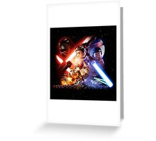 Lego Star Wars The Force Awakens Movie Poster Greeting Card