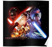 Lego Star Wars The Force Awakens Movie Poster Poster