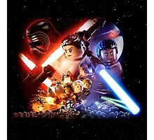 Lego Star Wars The Force Awakens Movie Poster Photographic Print