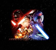 Lego Star Wars The Force Awakens Movie Poster by neatdesign